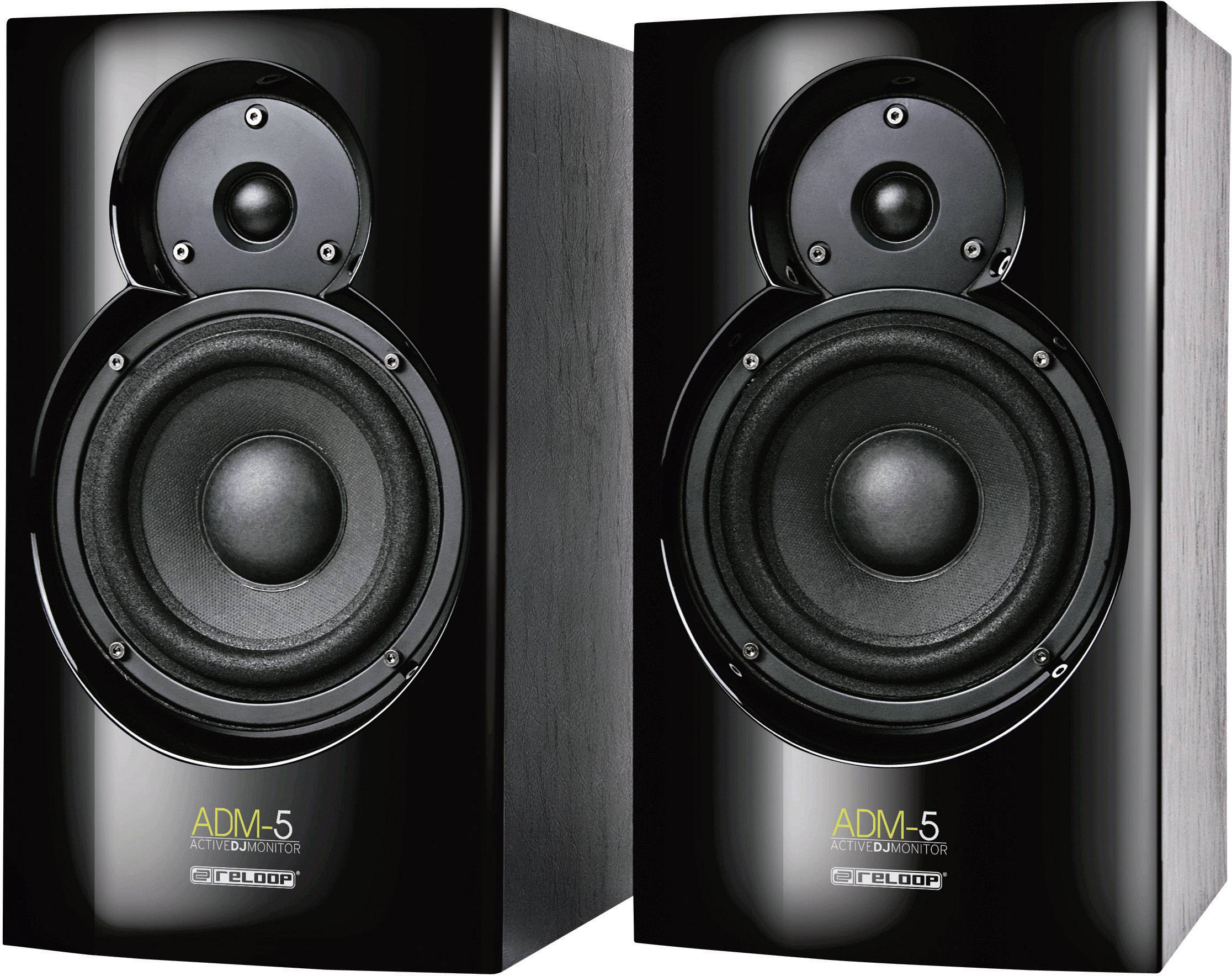 Aktivní monitory Reloop ADM-5, 8 Ω, 76 dB, 2 x 30/60 W, černá