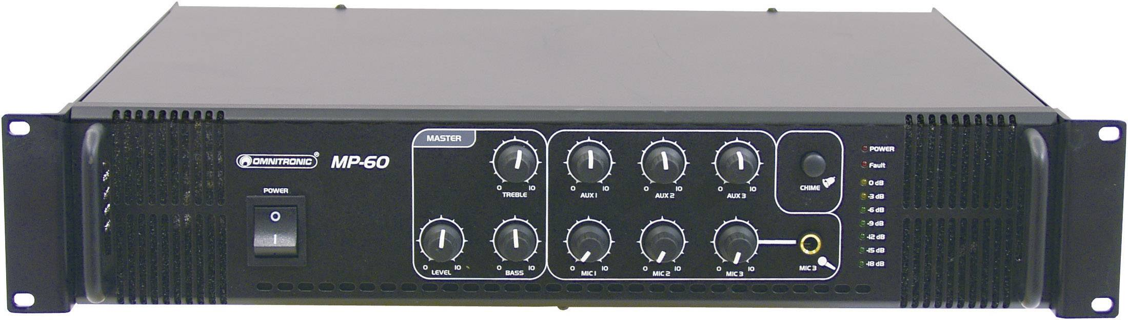 Mixážny zosilňovač Omnitronic MP-60 ELA
