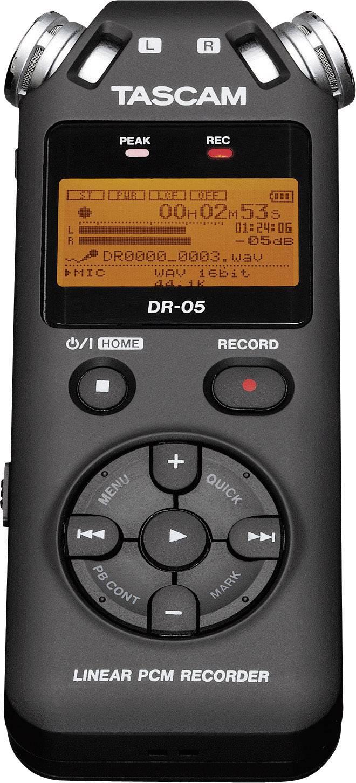 Prenosný audio rekordér Tascam DR-05V2, čierna