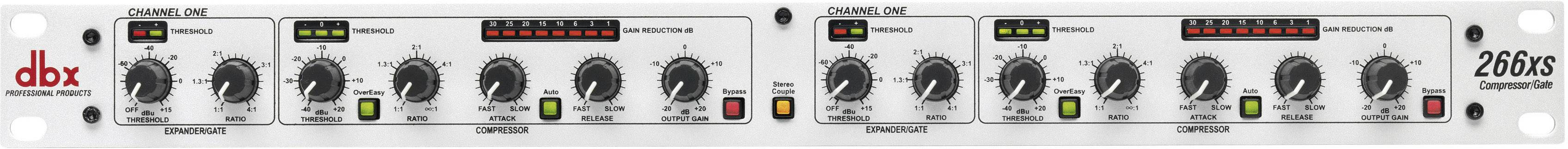 Kompresor/limiter/gate DBX 266 XS, 2-kanálový