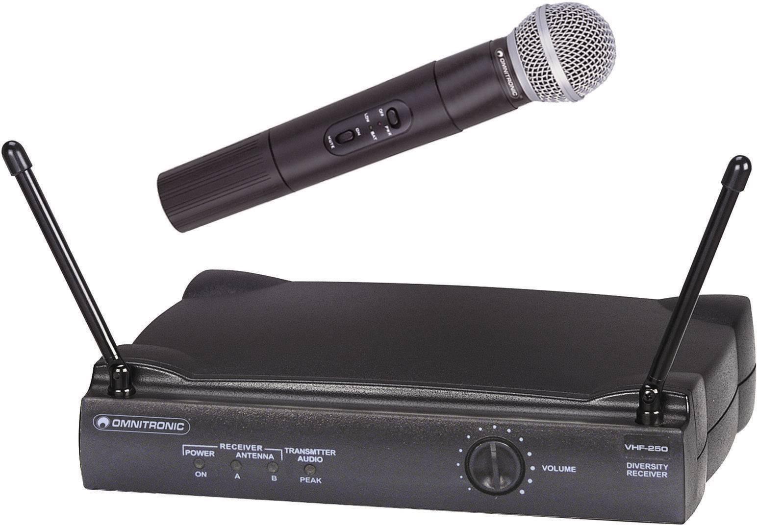 Sada bezdrôtového mikrofónu Omnitronic VHF-250