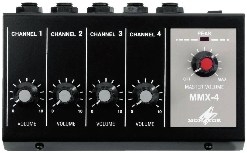 Mikrofónny zmiešavač Monacor MMX-4 4-kanálová