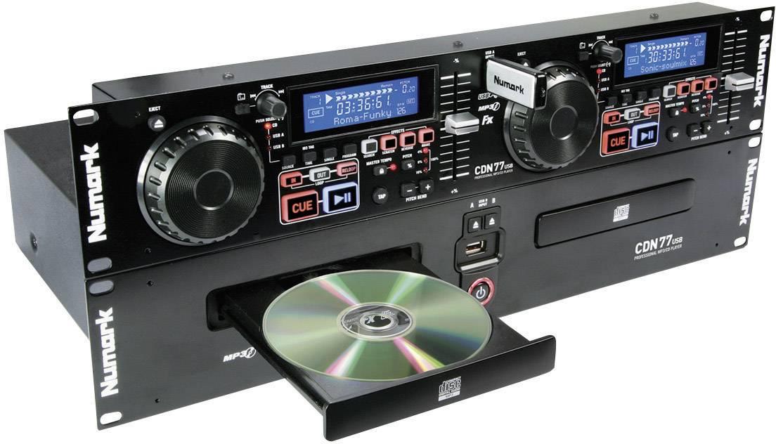 Dvojitý CD/MP3 přehrávač s USB Numark CDN77USB