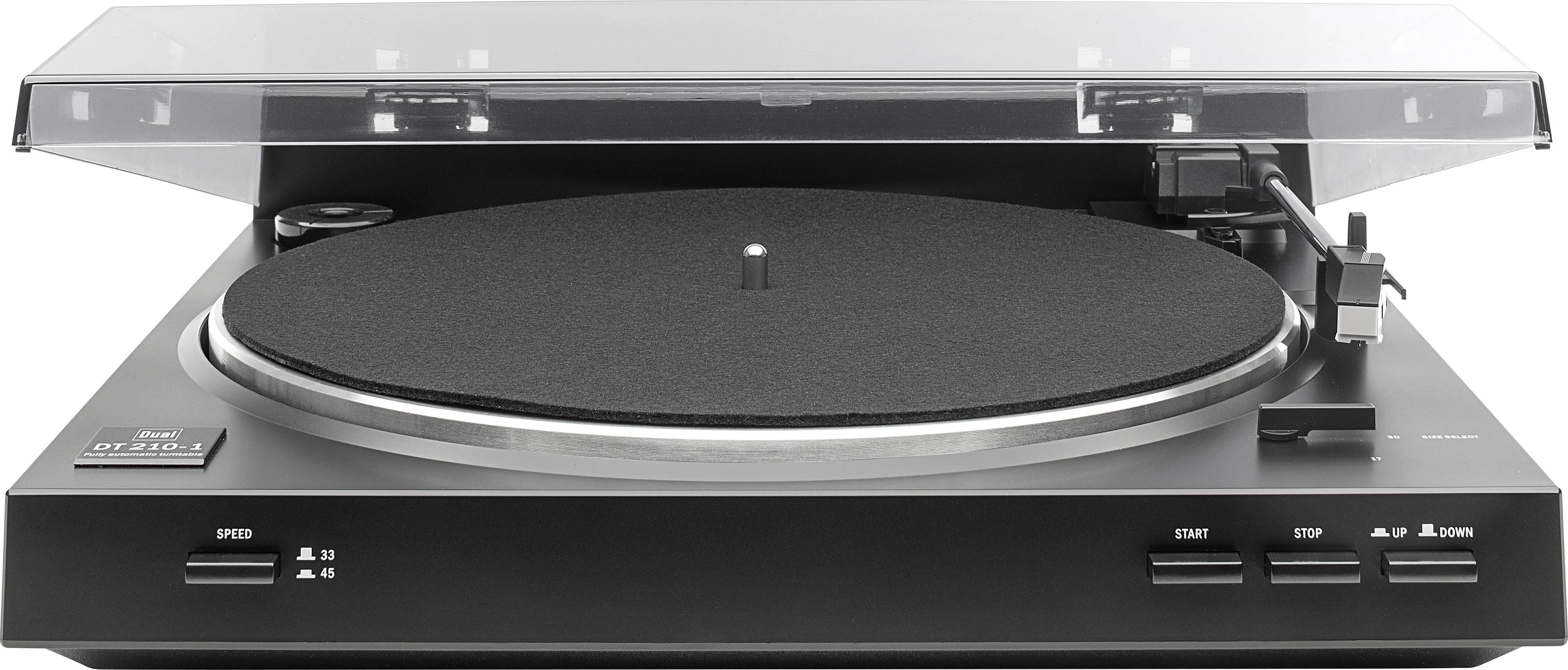 USB gramofón Dual DT 210 USB, s remienkovým náhonom, čierna