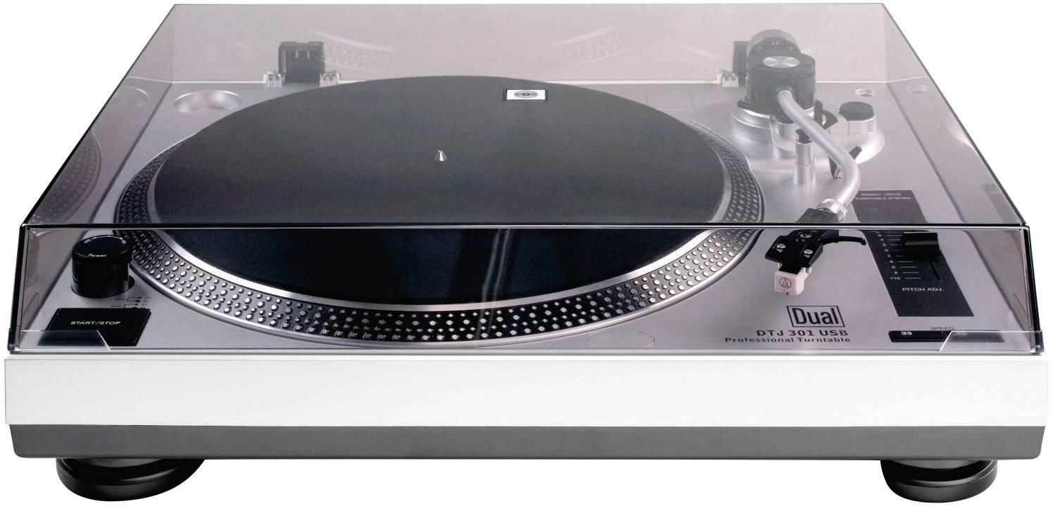 USB gramofón Dual DTJ 301 USB s priamym náhonom, strieborná