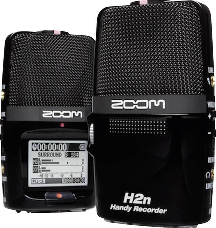 Prenosný audio rekordér Zoom H2n, čierna