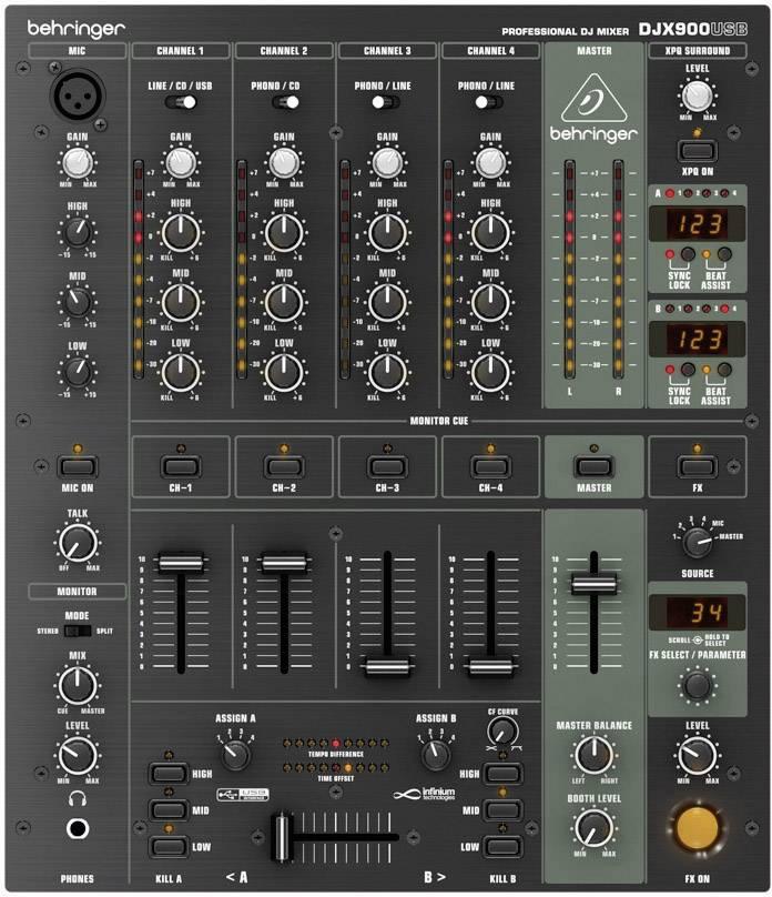 DJ mixážní pult Behringer DJX-900USB
