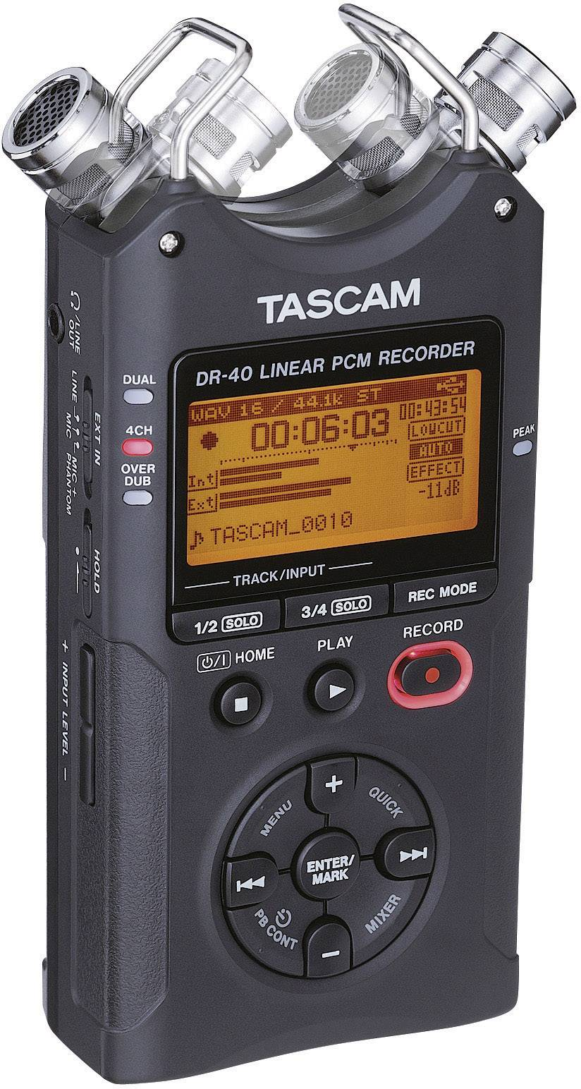 Mobilný audio rekordér Tascam DR-40, čierna