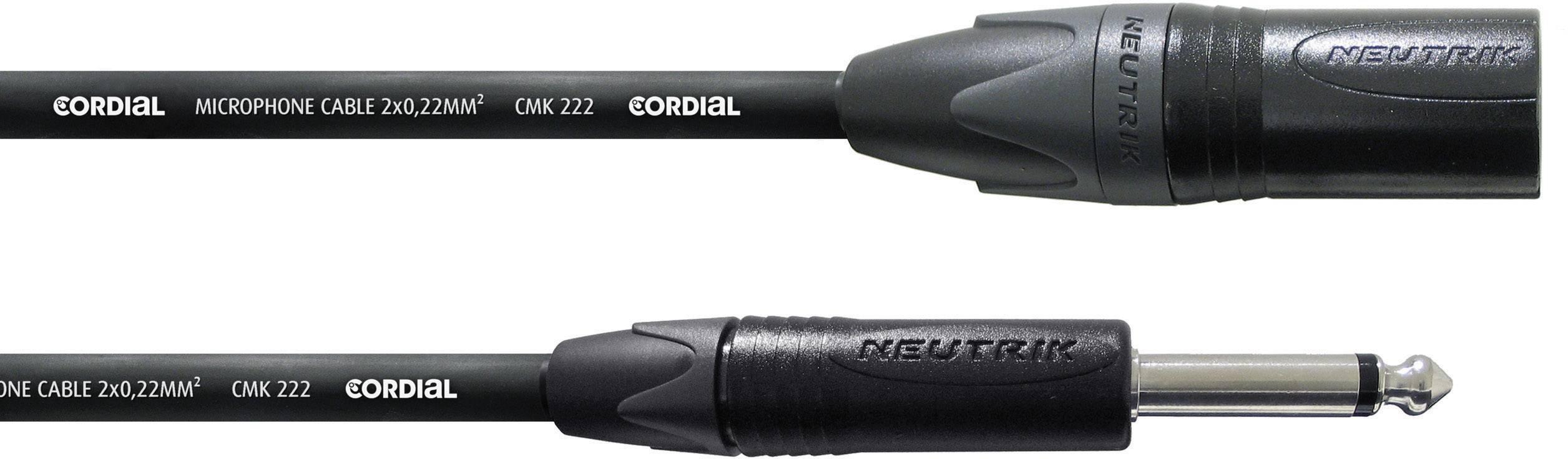 Kabel Cordial® CMK 222 2,5 CPM MP, XLR(M)/mono jack 6,3 mm, 2,5 m, černá