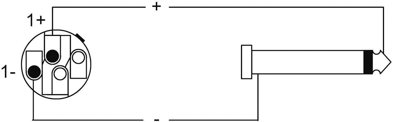 Cordial® CLS 225, 2 x 2,5 mm² černá černá Speakon / jack 6,3 mm