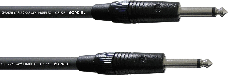 Kábel Cordial CPL 1,5 PP, [1x jack zástrčka 6,35 mm - 1x jack zástrčka 6,35 mm], 1.5 m, čierna