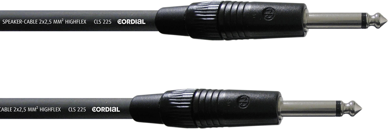 Kábel Cordial CPL 10 PP 25, [1x jack zástrčka 6,35 mm - 1x jack zástrčka 6,35 mm], 10 m, čierna