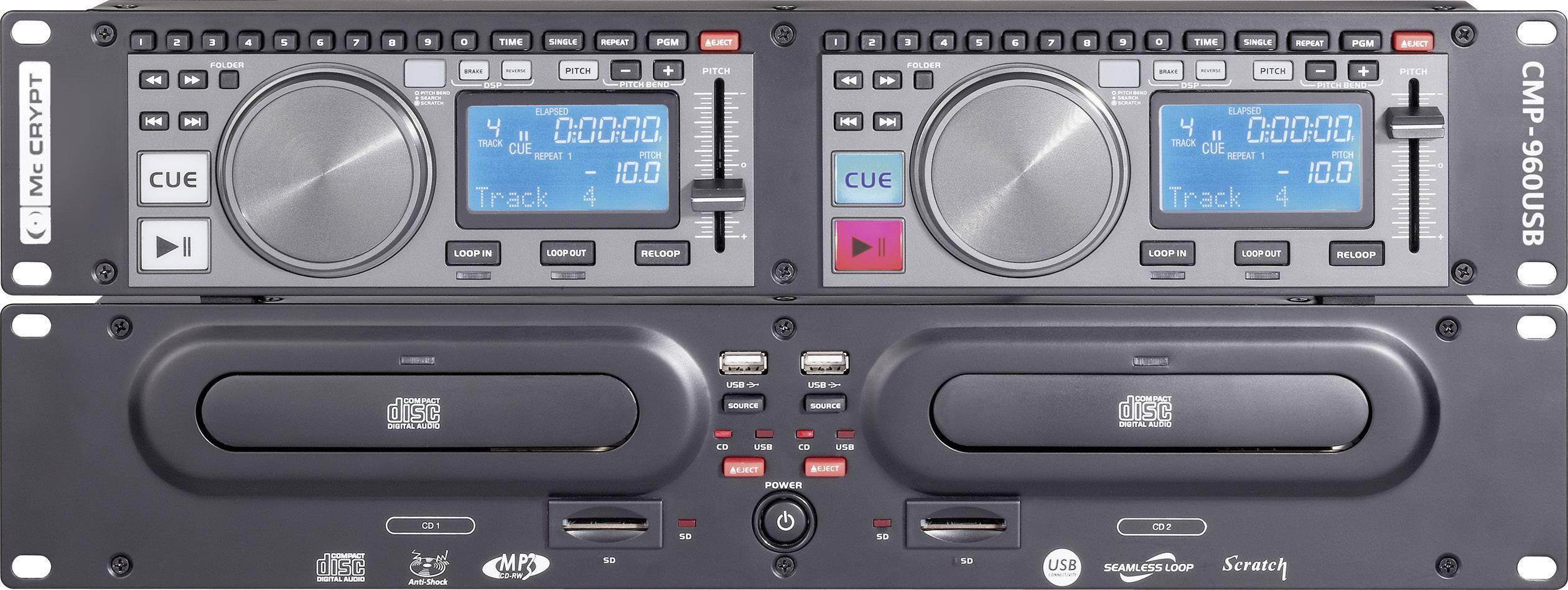 DJ dvojité prehrávače CD, MP3