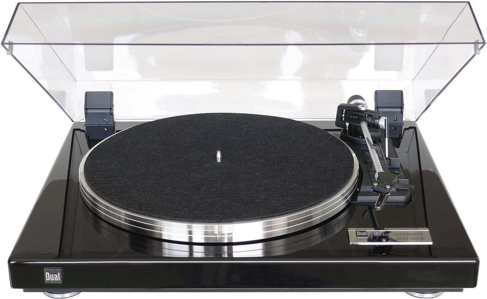 Gramofón Dual CS 460 s remienkovým náhonom, čierna (lesklá)