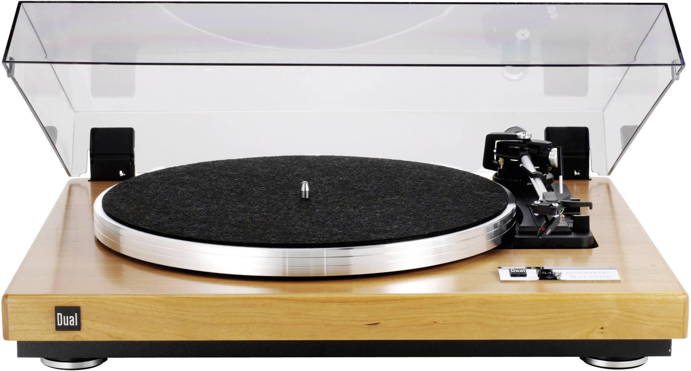 Gramofón Dual CS 460 s remienkovým náhonom, orešáková