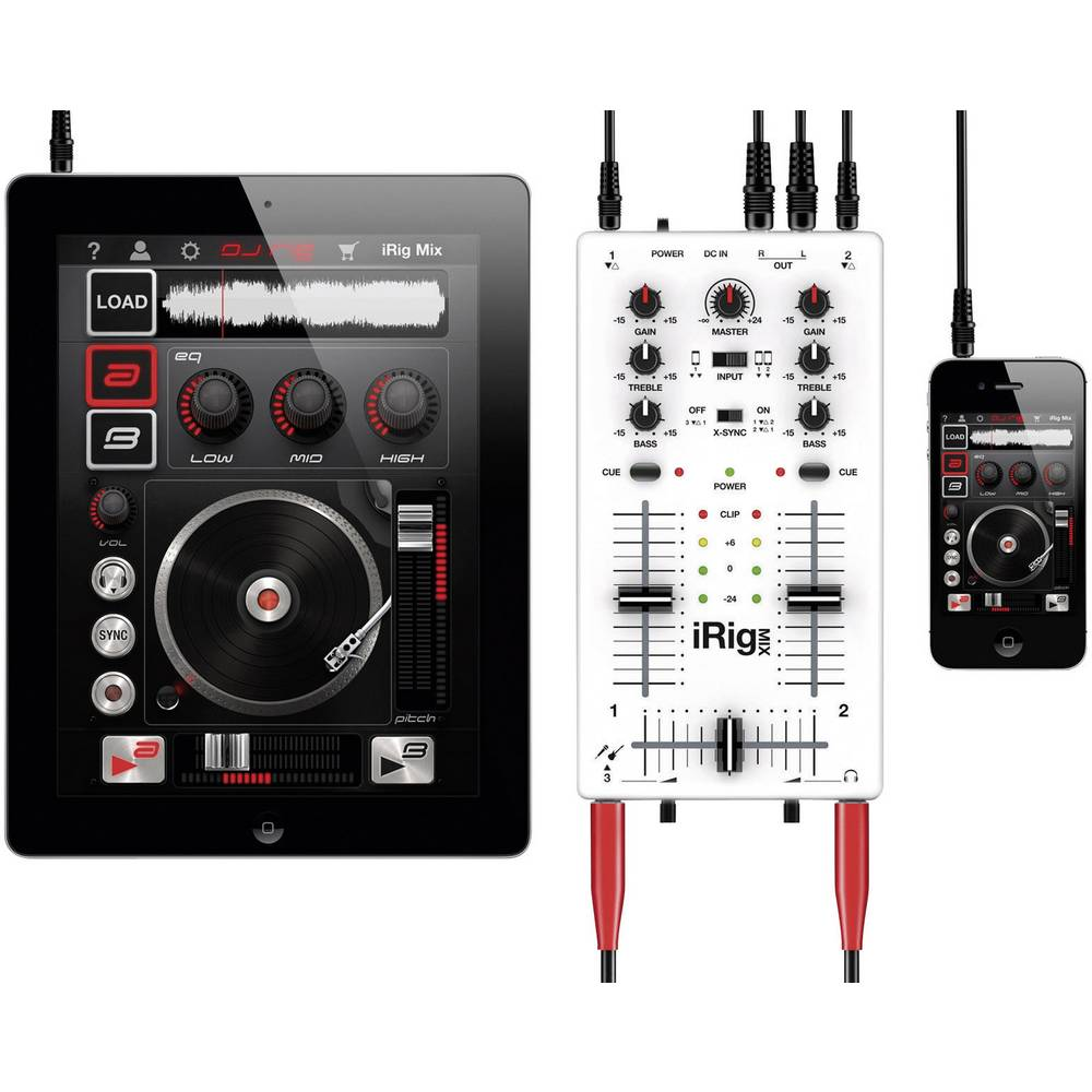 dj mix n pult irig mix vhodn pro iphone a ipad. Black Bedroom Furniture Sets. Home Design Ideas