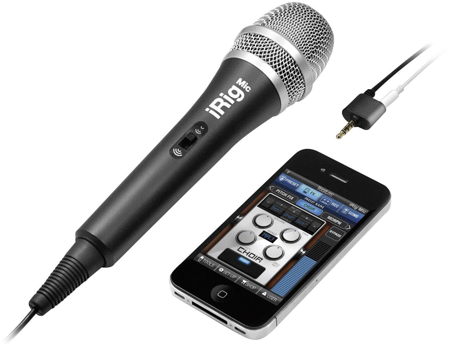 Ručný ručný mikrofón iRig Mic, káblový, vr. svorky