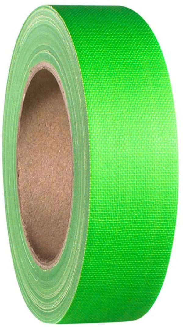 Gaffa páska se skelným vláknem Adam Hall 58065NGRN, (d x š) 25 m x 38 mm, neonově zelená, 1 ks