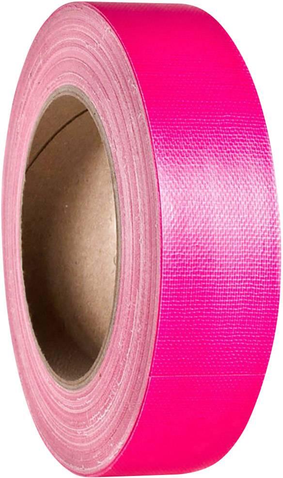 Gaffa páska se skelným vláknem Adam Hall 58065NPIN, (d x š) 25 m x 38 mm, neonově růžová, 1 ks