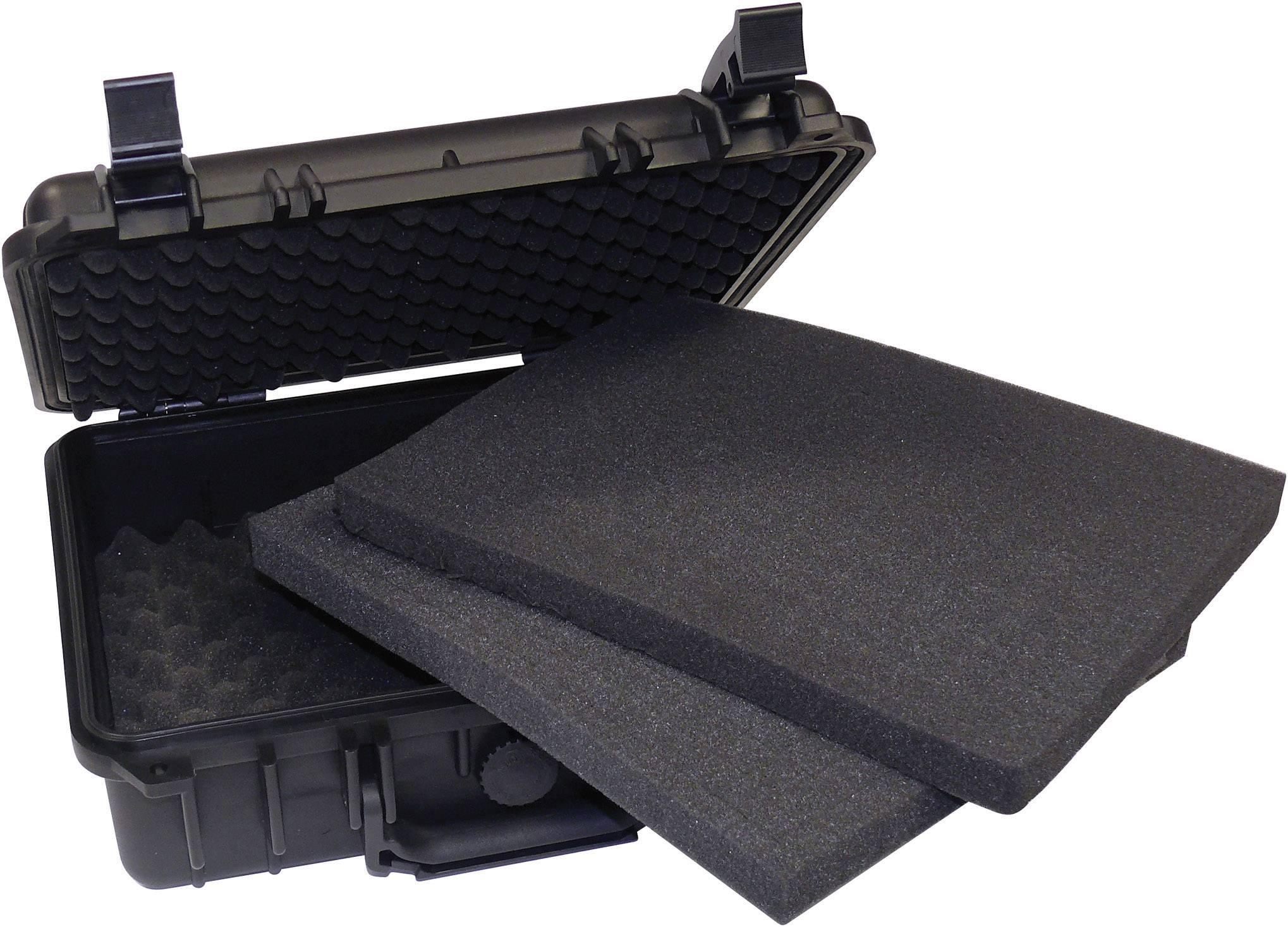 Ochranný kufor 206353, (d x š x v) 330 x 280 x 120 mm, čierna