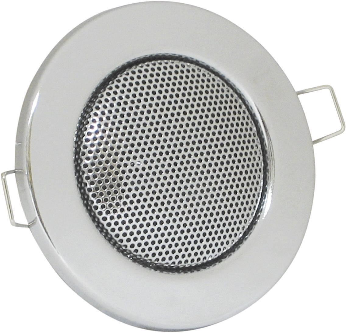 Vestavný reproduktor s designem halogenky, 8 Ω, 1,5/3 W, stříbrná