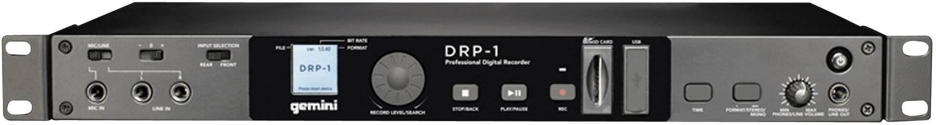 Audio rekordér Gemini DRP-1, čierna