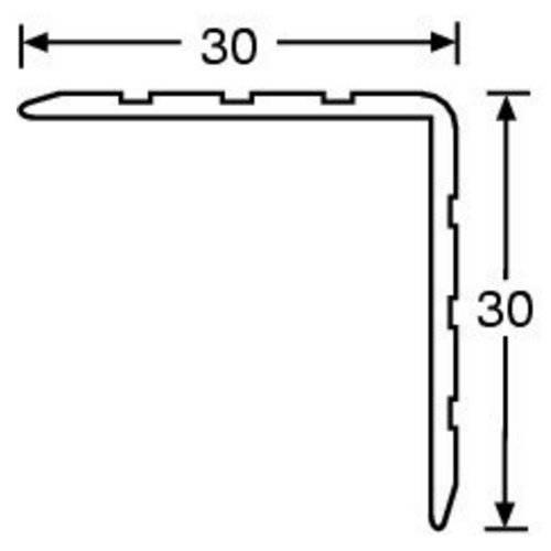 Adam Hall 6105, (d x š x v) 1 m x 30 mm x 30 mm, hliník