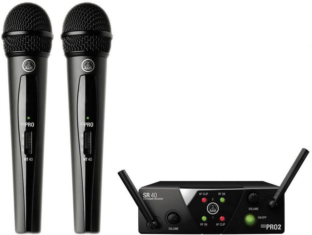 Sada bezdrôtového mikrofónu AKG WMS40MiniDual