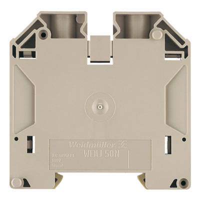 W-Series, Feed-through terminal, Rated cross-section: 50 mm², Screw connection, Direct mounting, Black WDU 50N SW Weidmüller Množství: 10 ks