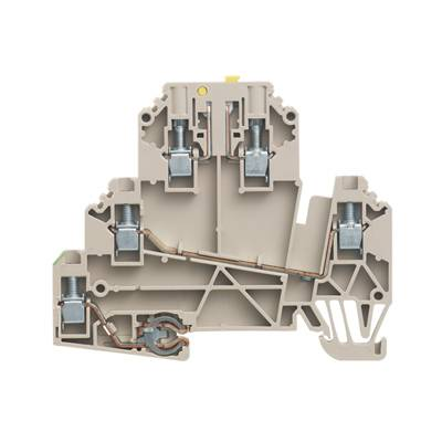 W-Series, Test-disconnect terminal, Rated cross-section: 2,5 mm², Screw connection WDK 2.5/TR-DU-PE STB Weidmüller Množství: 50 ks