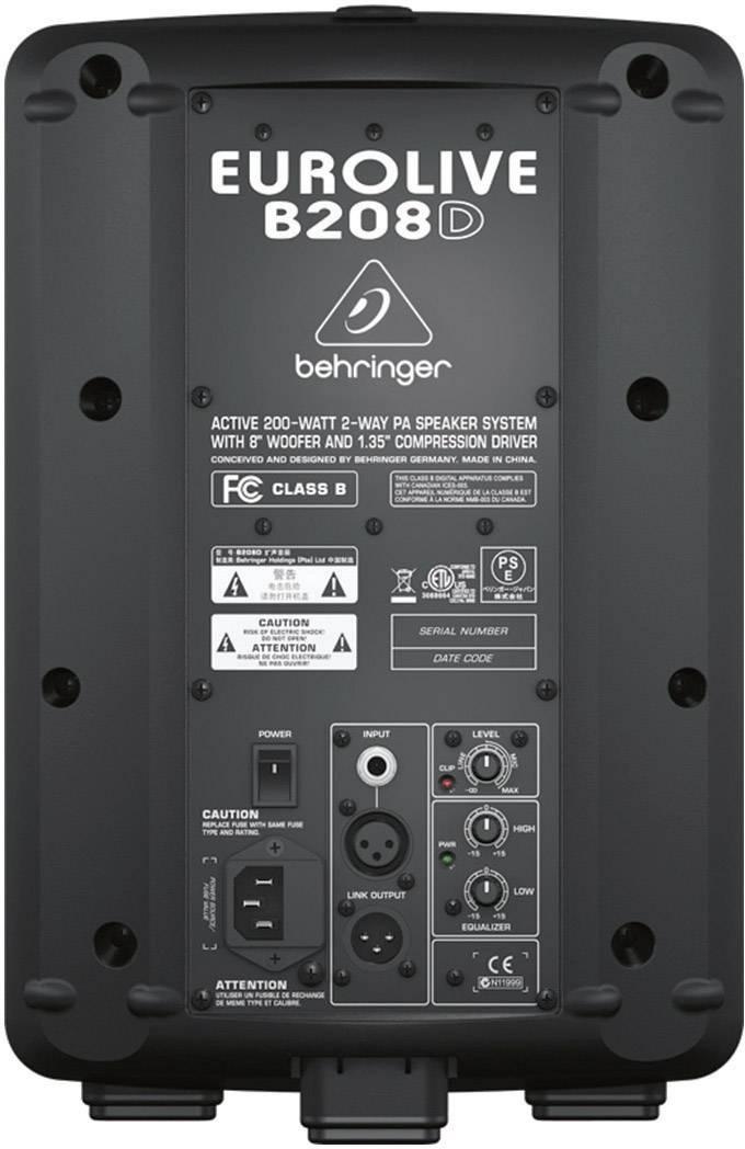 "Aktívny PA reproduktor Behringer B208D, 170 W, 20 cm (8 "") 1 ks"