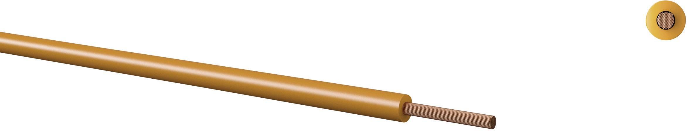 Opletenie / lanko Kabeltronik 160102504 LiFY, 1 x 0.25 mm², vonkajší Ø 1.40 mm, metrový tovar, žltá