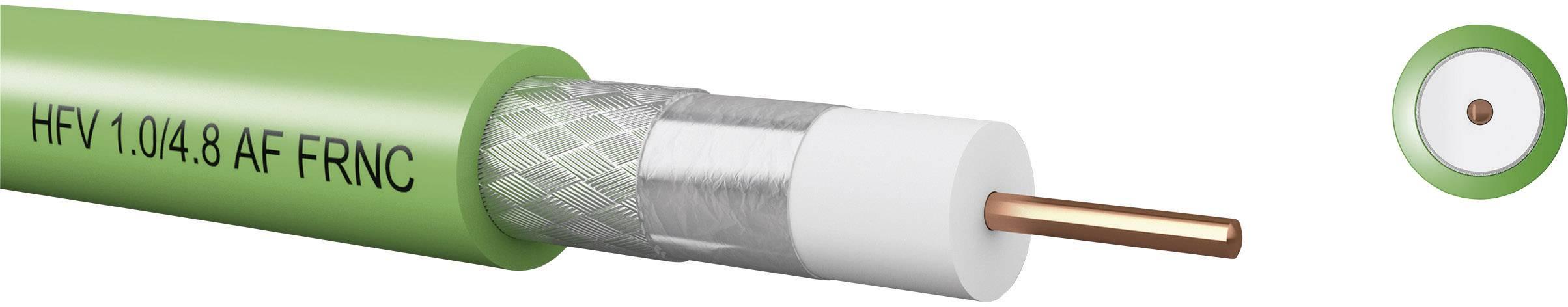 Koaxiálny kábel Kabeltronik 7406028S0, 75 Ohm, metrový tovar, zelená