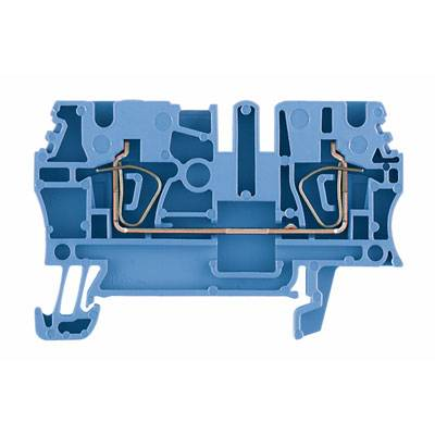 Z-series, Feed-through terminal, Rated cross-section: 2,5 mm², Tension clamp connection, Wemid, Blue, ZDU 2.5 BL Weidmüller Množství: 100 ks