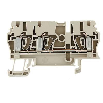 Z-series, Feed-through terminal, Rated cross-section: 2,5 mm², Tension clamp connection, Wemid, Dark Beige, Busbar ZDU 2.5/3AN Weidmüller Množství: 100 ks