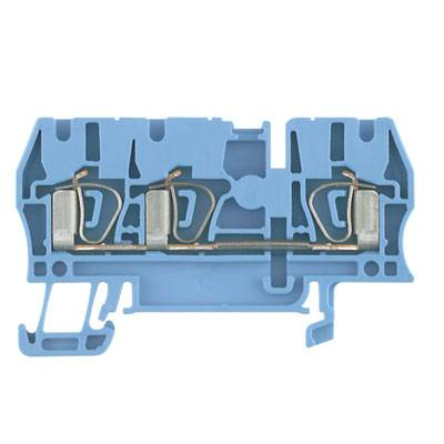 Z-series, Feed-through terminal, Rated cross-section: 2,5 mm², Tension clamp connection, Wemid, Blue, ZDU 2.5/3AN BL Weidmüller Množství: 100 ks