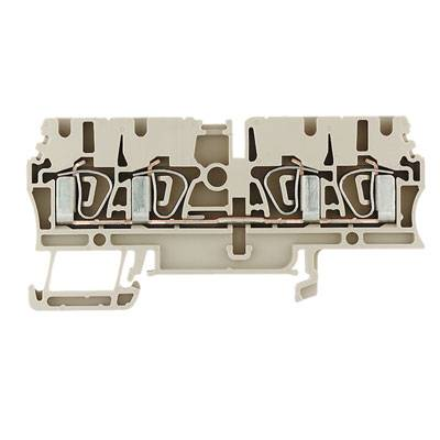Z-series, Feed-through terminal, Rated cross-section: 2,5 mm², Tension clamp connection, Wemid, Green, Busbar ZDU 2.5/4AN GN Weidmüller Množství: 100 ks