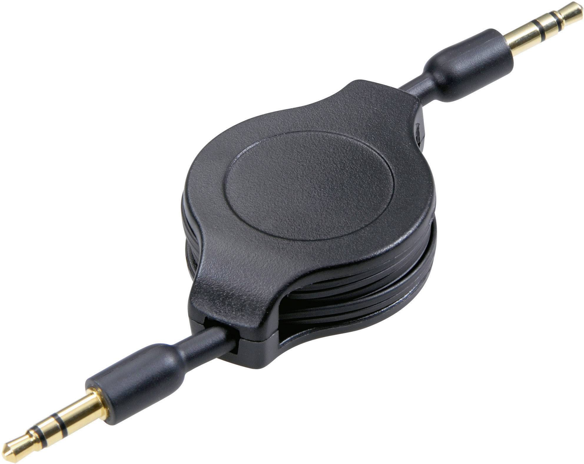 Jack audio kábel SpeaKa Professional SP-1300276, 1.10 m, čierna