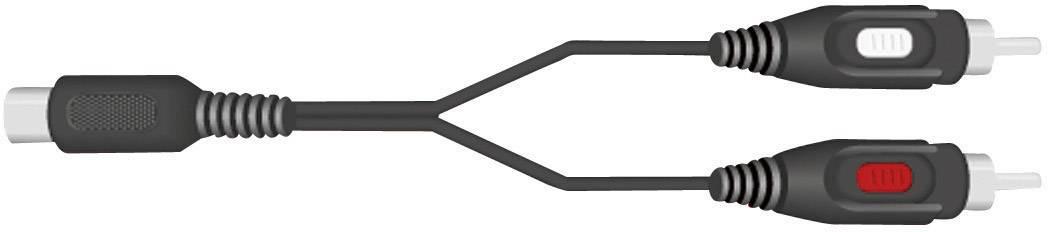 Připojovací kabel SpeaKa, 2xcinch/zástr. 5-pól. (DIN), černý, 1,5 m