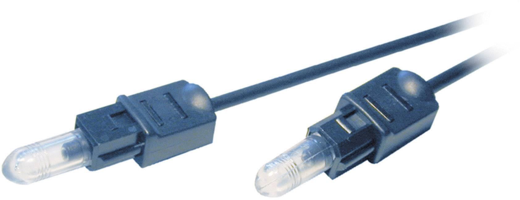 Optický kábel SpeaKa Professional Toslink, čierna, 1 m
