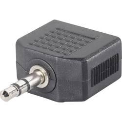Jack audio Y adaptér SpeaKa Professional SP-7870244, černá