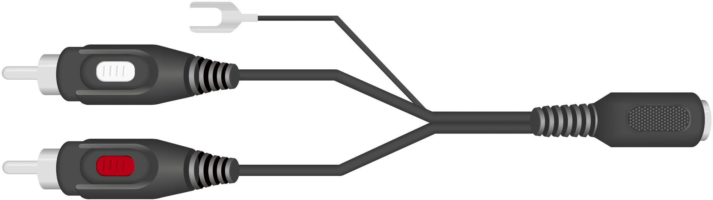 Cinch/DIN adaptér SpeaKa Professional, diodová zásuvka 5pól. (DIN) / 2x cinch zástrčka