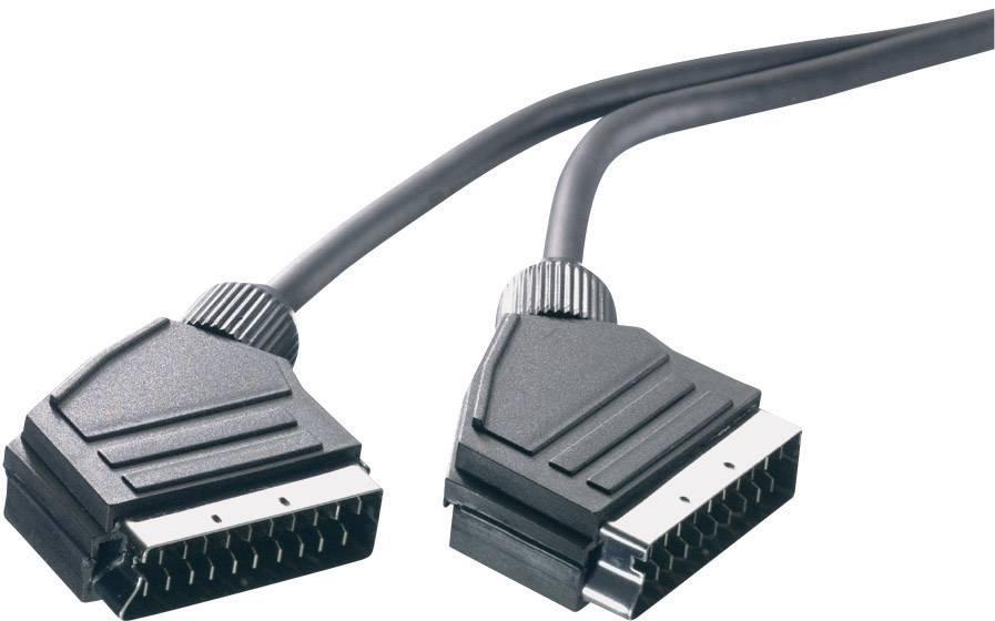 Predlžovací kábel SpeaKa Professional, SCART, čierna, 0,75 m