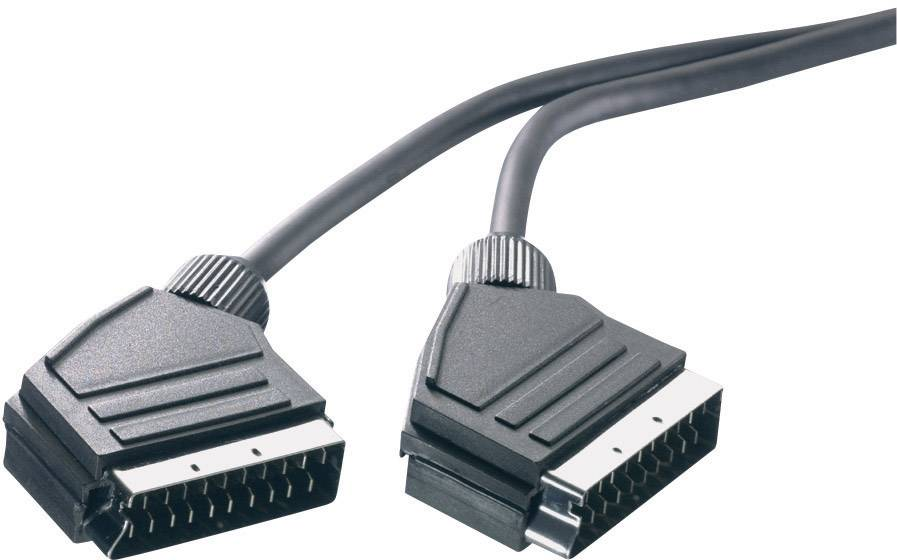 Predlžovací kábel SpeaKa Professional, SCART, čierna, 1,5 m