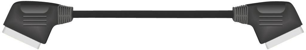 SCART TV, prijímač kábel SpeaKa Professional SP-1300584, 5 m, čierna