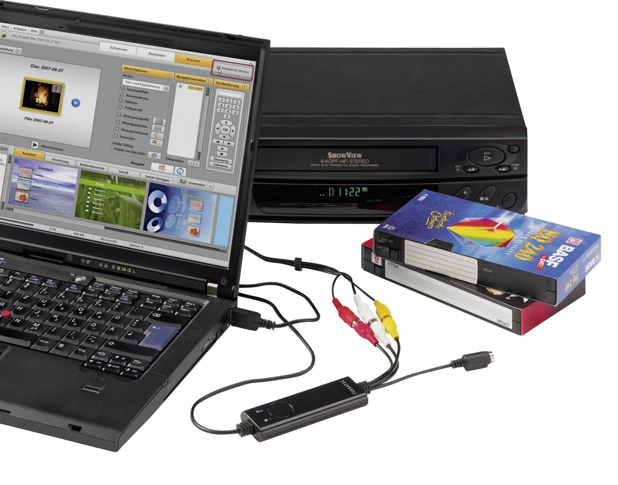 USB zariadenie na prevod videa do digitálneho záznamu, Terratec G1 10680