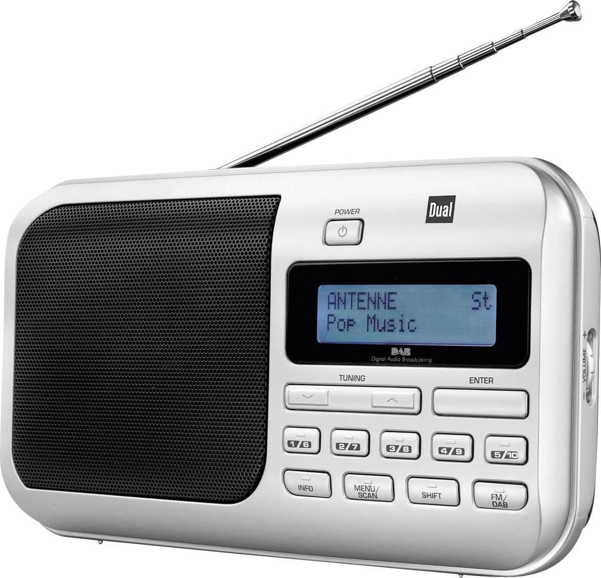 DAB+, FM prenosné rádio Dual DAB 4, DAB+, UKW, strieborná