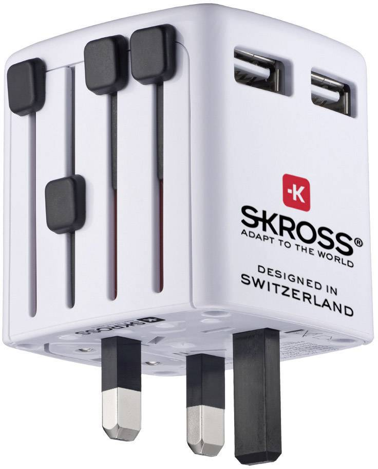 USB nabíječka Skross 1.302320, nabíjecí proud 2400 mA, bílá