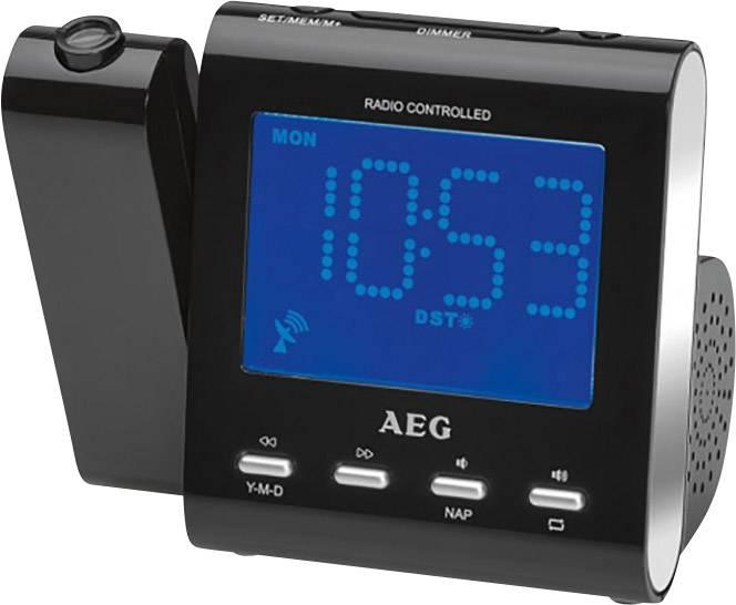 DCF rádiobudík AEG MRC 4122, AUX, MW, UKW, čierna