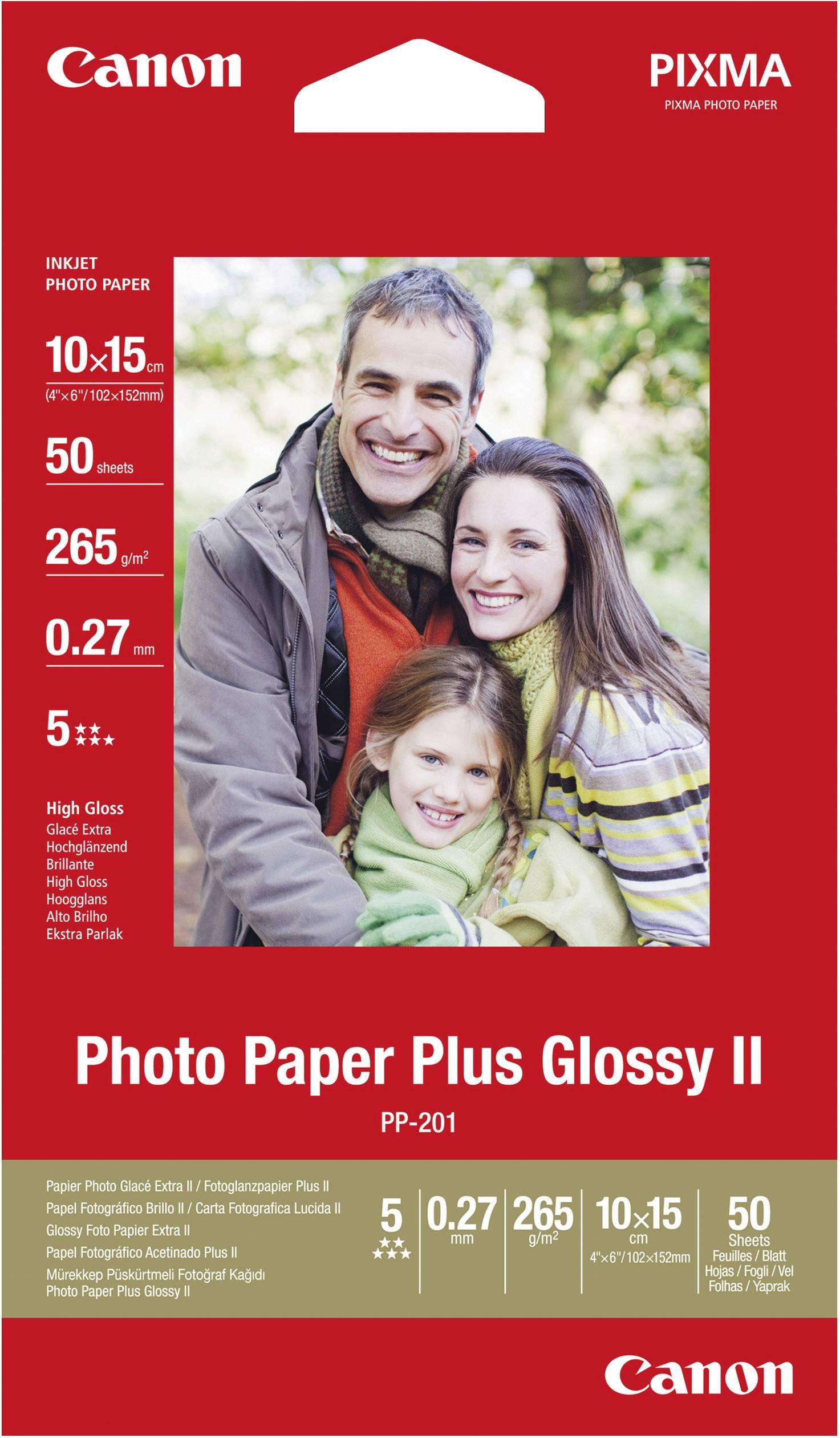 Fotografický papier Canon Photo Paper Plus PP-201 2311B003, 10 x 15 cm, 265 gm², 50 listov